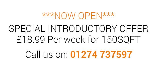 Seasona self storage in Bradford - Introduction offer £18.99/week per 150 sqft