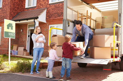 family moving home after house sale