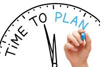 clock saying time to plan