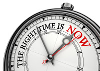 clock saying the time is right now