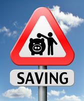 Road sign saying saving!