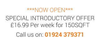 promotional text: £16.99 pounds / week for 150 sqft