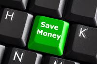 save money written on a key
