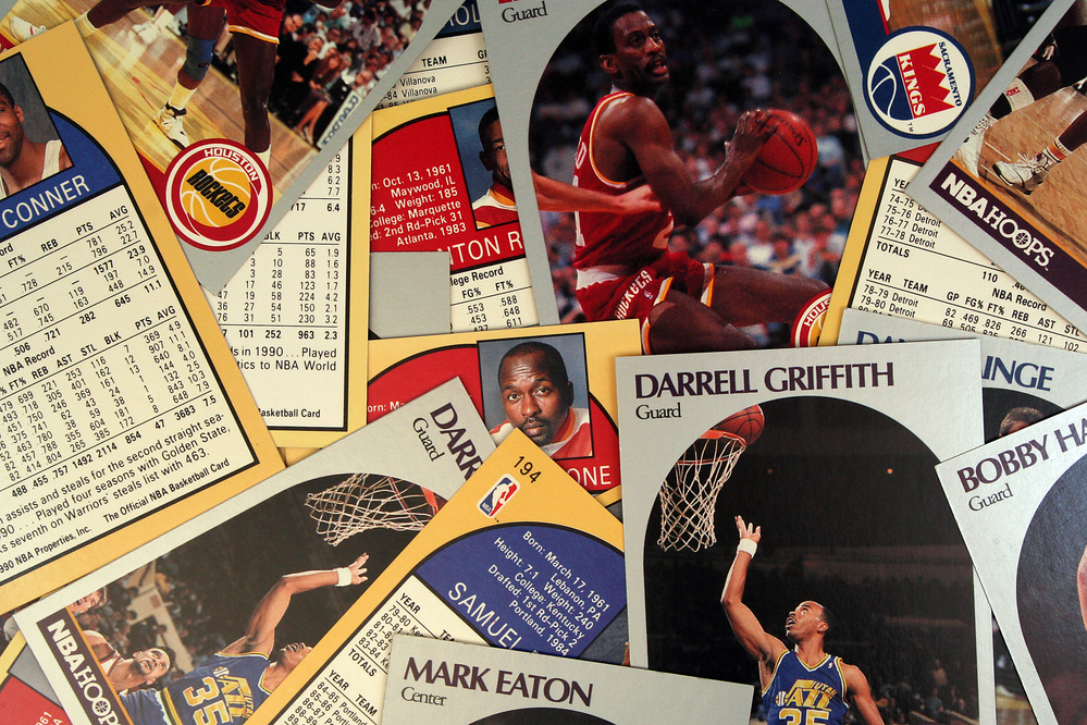 Art self storage tips - A Scattered Collection of Vintage Basketball Cards