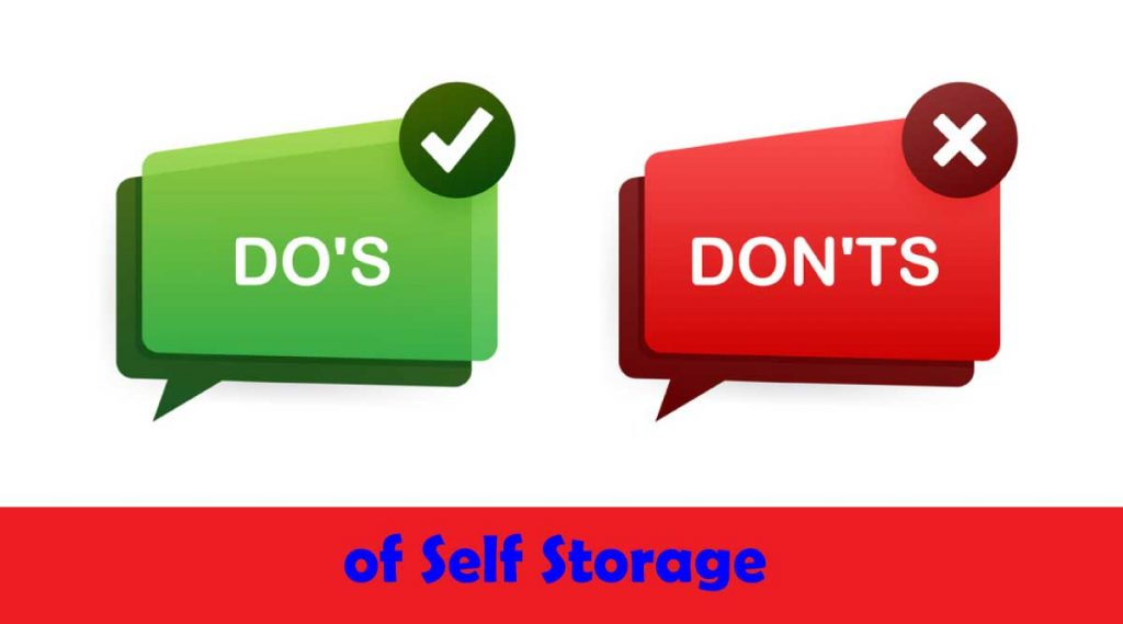 Dos and Don'ts of Self Storage