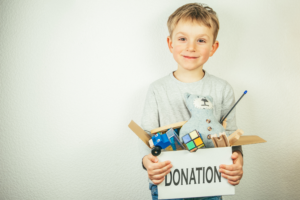 Children's toys cluttering your home - Donations can help overcome the problem!
