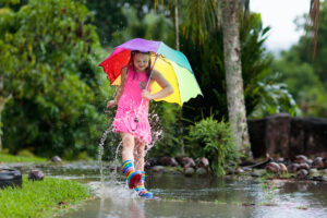 How to Protect Your Outdoor Items from Weather Damage! - Girl playing in the rain