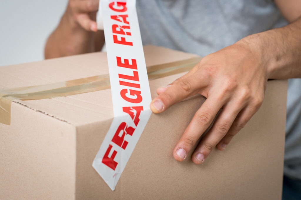 Tips on packing fragile items